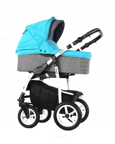 Carucior copii 3 in 1 Danco Blue Grey