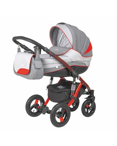 Carucior copii 3 in 1 Aspena Grand Prix Black Red