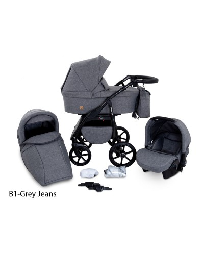 Carucior copii 3 in 1 Boston Grey Jeans
