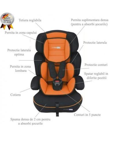 Babygo-Scaun Auto Freemove Orange