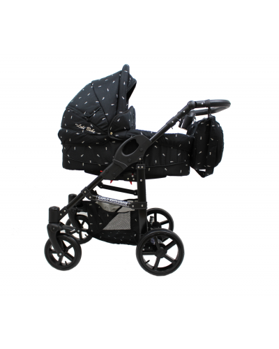 Carucior copii 3 in 1 Carlo EXCLUSIVE Black