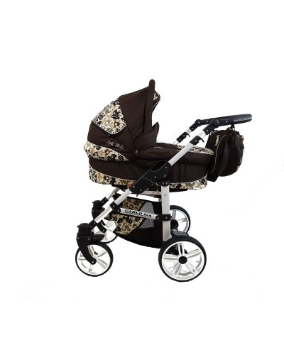 Carucior copii Carlo Lux 3 in 1 Brown Animals