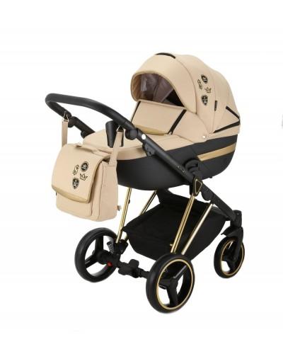 Carucior copii 3 in 1 Cortina Sport Adamex Special Edition Cream Gold CS452