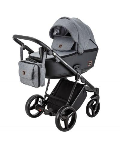 Carucior copii 3 in 1 Cristiano Adamex Classic Grey CR240