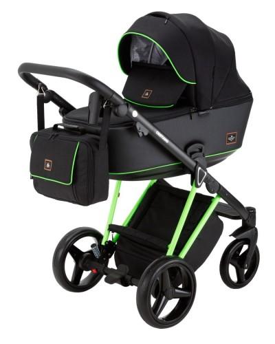 Carucior copii 3 in 1 Cristiano Adamex Special Edition FLUO Green