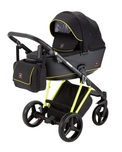 Carucior copii 3 in 1 Cristiano Adamex Special Edition FLUO Yellow