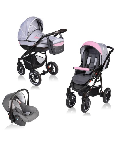 Carucior Crooner 3 in 1 - Vessanti - Grey Pink