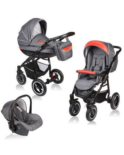 Carucior Crooner 3 in 1 - Vessanti - Grey Red