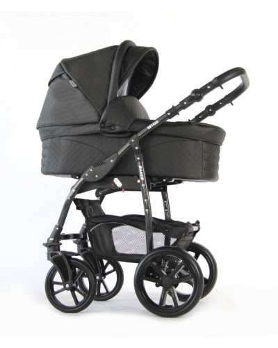 Carucior 3 in 1 Danco Black Leather