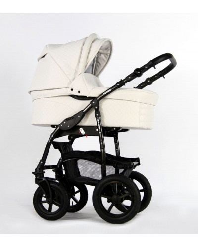 Carucior 3 in 1 Danco White Pure Leather