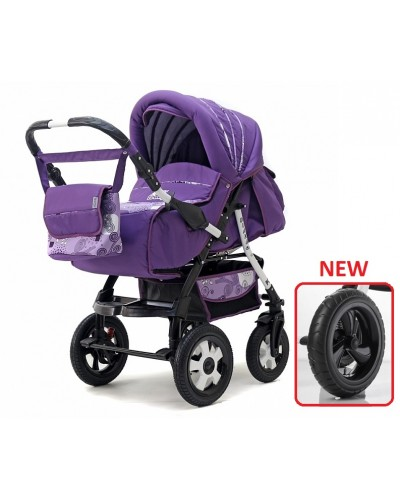 Carucior copii transformabil 2 in 1 Diana purple