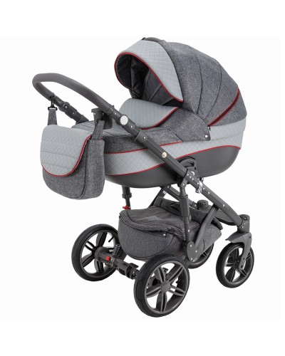 Carucior copii 3in 1 Adamex Encore Intense Grey X1