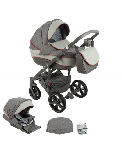 Carucior 2 in 1 Encore Adamex Intense Grey X1