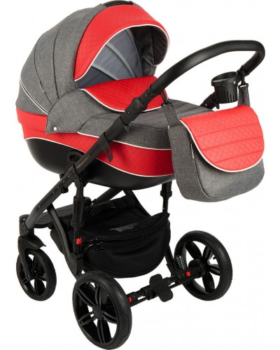 Carucior copii 3in 1 Adamex Encore Red Grey