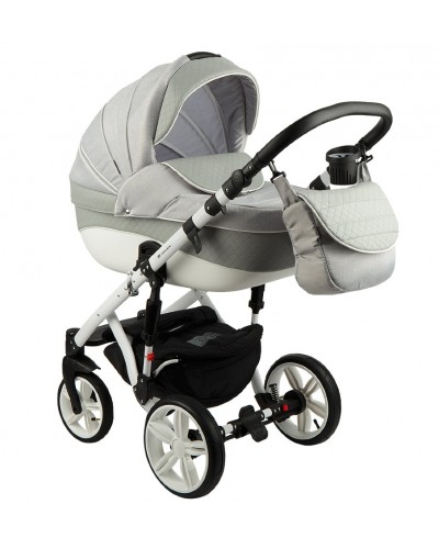 Carucior copii 3in 1 Adamex Encore Light Grey X7