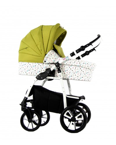 Carucior copii 3 in 1 Eco Green Birds