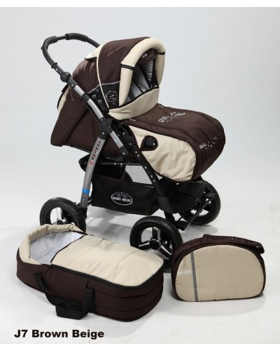 Carucior copii 2 in 1 Junior cu port-bebe Brown Beige