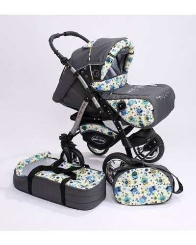 Carucior copii 2 in 1 Junior Plus cu port-bebe OWLS