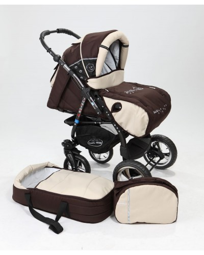 Carucior copii 2 in 1 Junior Plus cu port-bebe Brown Beige