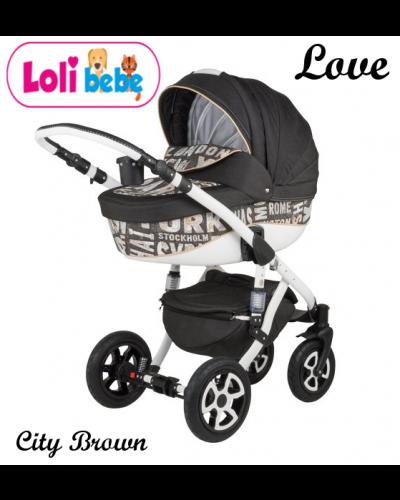Carucior copii 3 in 1 LoliBebe Love City Brown