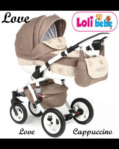 Carucior copii 3 in 1 LoliBebe Love Cappucinno
