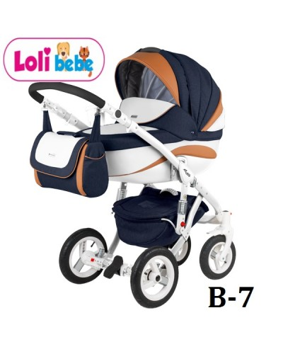 Carucior copii 3 in 1 Lolibebe LOVE Fall Winter Bluemarin