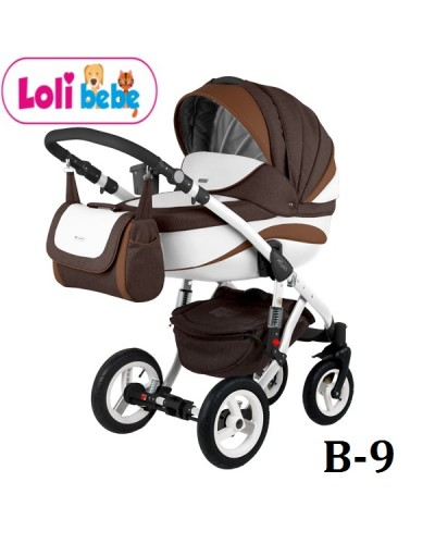 Carucior copii 3 in 1 Lolibebe LOVE Fall Winter Brown