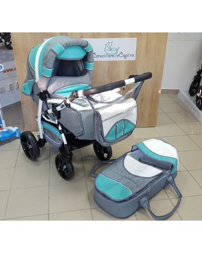 Carucior copii 2 in 1 Luca cu port-bebe Eko Verde