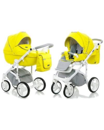 Carucior copii 3 in 1 Adamex Massimo V 208 Lime Deluxe
