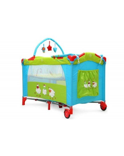 Patut pliant bebe MONI Happy Baby Triple Chicks