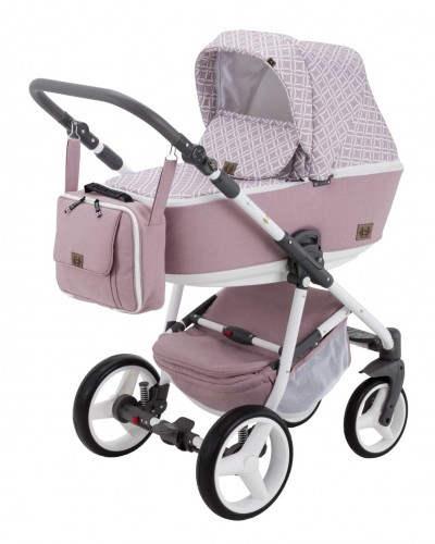 Carucior copii 3 in 1 Reggio Adamex Queen of Pink Q220