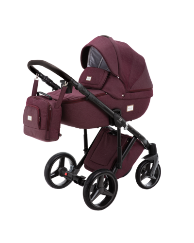 Carucior copii 3 in 1 Adamex Luciano Q8 Cherry Blow