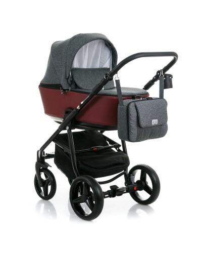 Carucior copii 3 in 1 Reggio Adamex Grey Cherry Y60