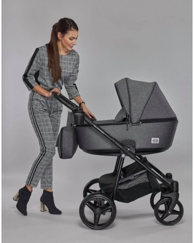 Carucior copii 3 in 1 Reggio Adamex Royal Dark Gray Y6