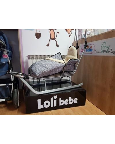 Sanie copii cu sac imblanit LoliBebe Grey Forms