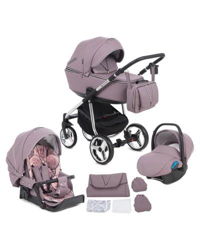 Carucior copii 3 in 1 Sierra Adamex Special Edition Purple Rain SR332