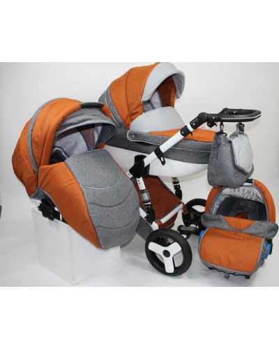 Carucior 3 in 1 Torrino Baby Seka Orange