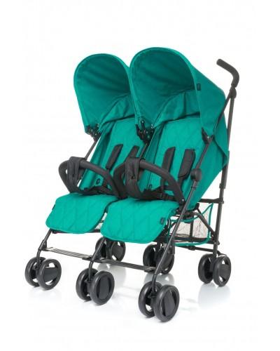 Carucior sport pentru gemeni Twins 4Baby Dark Turquoise