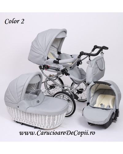 Carucior 3 in 1 Whicker Classic Baby Merc