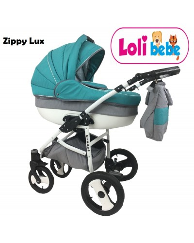 Carucior 3 in 1 Zippy Lux Baby Seka Turquoise